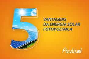 Conheça as 5 principais vantagens da energia solar