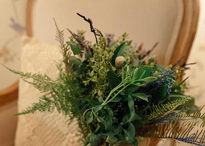 Buquê de noiva verde