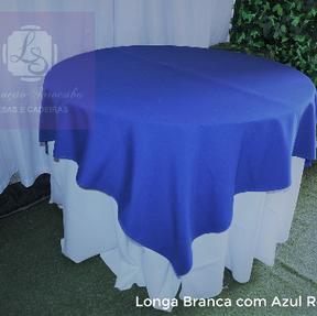 Longa Branca com Azul Royal