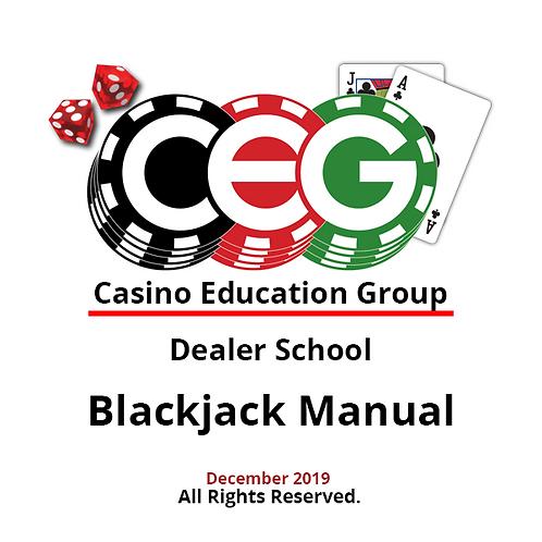 Blackjack Dealer Manual