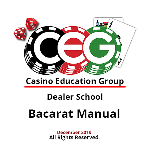 Baccarat Dealer Manual