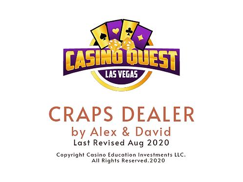 Craps Dealer Manual