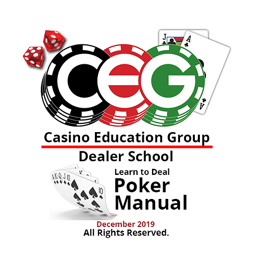 Pro Poker Dealer Manual