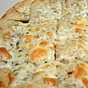 Large Stacked White Cheese Pizza