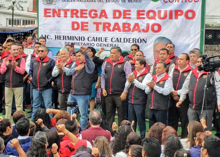 Reconoce Tomás Palomares, liderazgo de Herminio Cahue al frente del SUTEyM