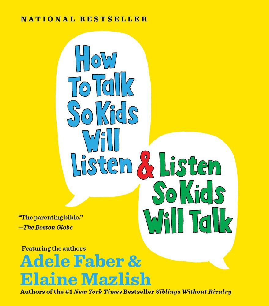 Book cover, featuring the title in speech bubbles in primary colors