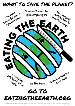 Eating the earth flyer save the planet