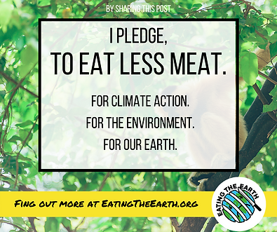 Pledge eat less meat climate change environment eating the earth