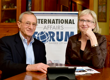 Retired diplomats bring the world, and a dose of civility, to Traverse City