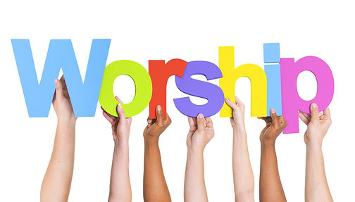 Diverse Hands Holding The Word Worship.j