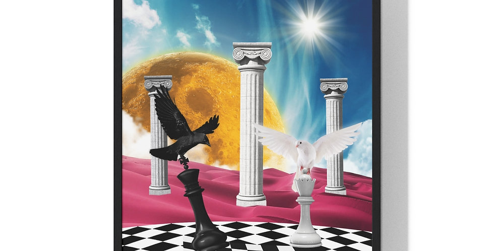 Chess with God *Framed & Signed* 24 x 36 in
