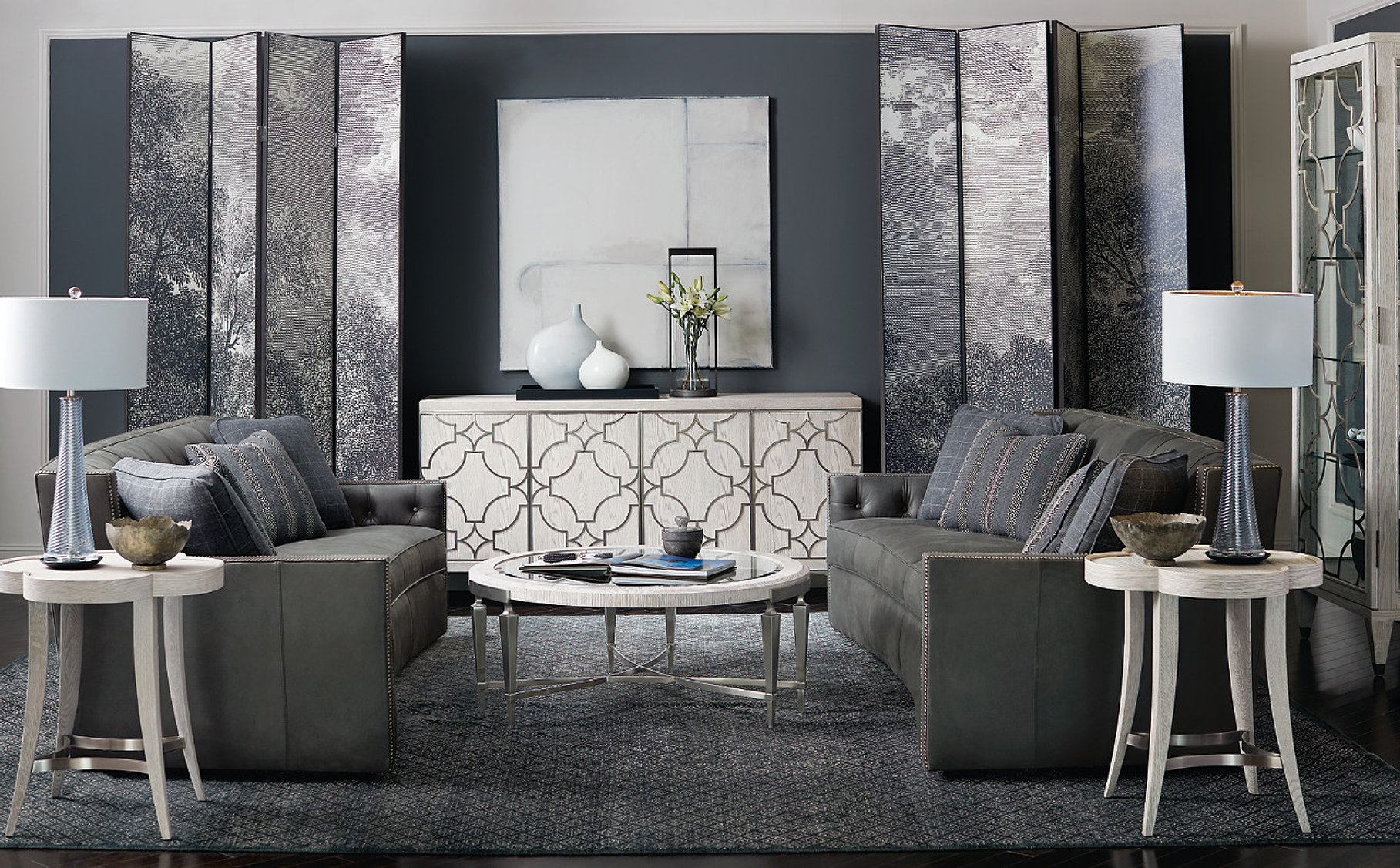 INTERIOR DESIGN · ABOUT · CONTACT. Candace Sofa Room ...