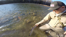 Andy Dietrich, with a Maitland River Steelhead