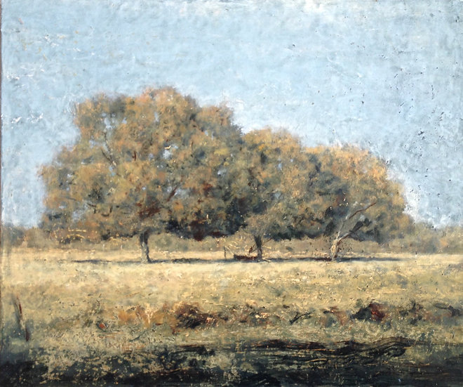 André Boubounelle / The three oaks in summer, Grosrouvre