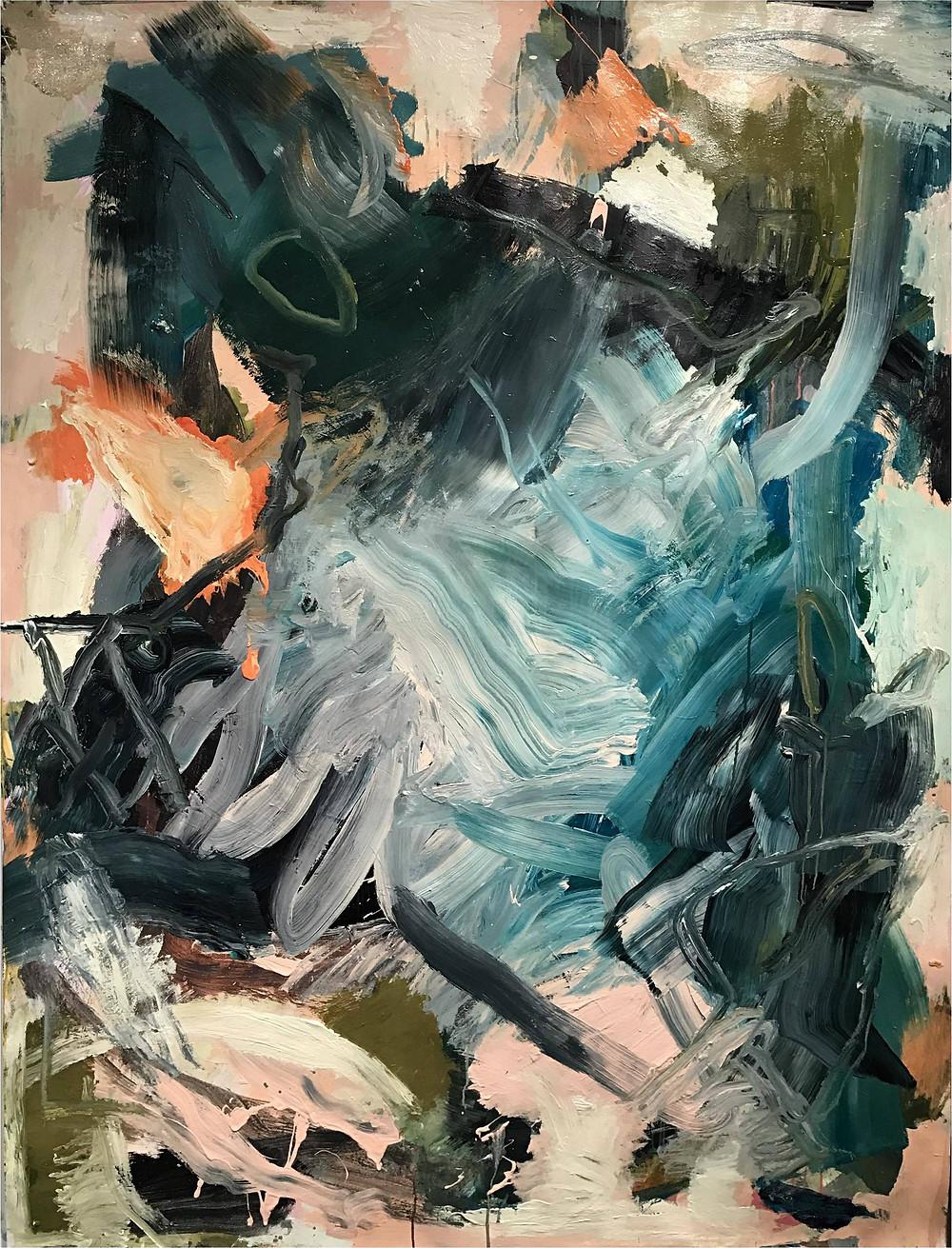 Trolley Dash Ian Rayer-Smith Peinture à l'acrylique sur toile, 2017 Artismagna