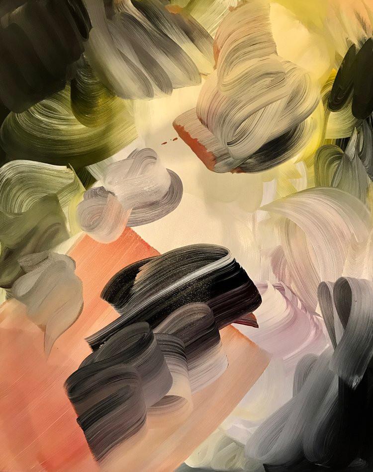 Engulfed with Curiosity Ian Rayer-Smith Technique Mixte et acrylique sur toile, 2017 Artismagna