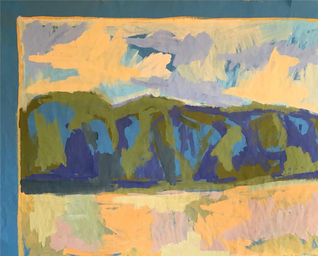 Francois Bensimon / Composition bleue