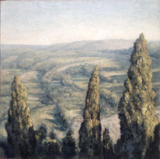 André Boubounelle / Large cypresses in Tuscany, small version