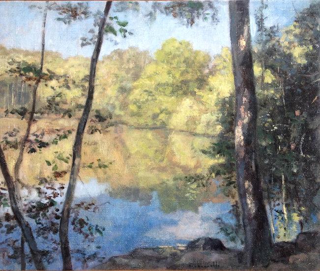 André Boubounelle / L'étang éclairé au Miroir