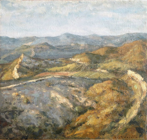 André Boubounelle / The illuminated mountains above Olympia