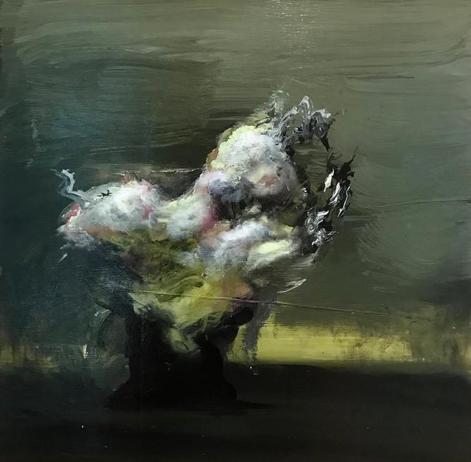 Frontier Ian Rayer-Smith Peinture à l'huile sur bois, 2017 Artismagna