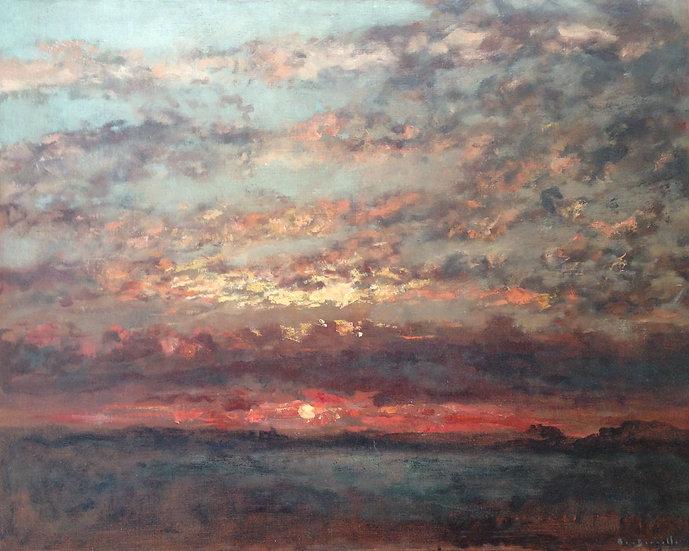 André Boubounelle / Sunset at Nueil