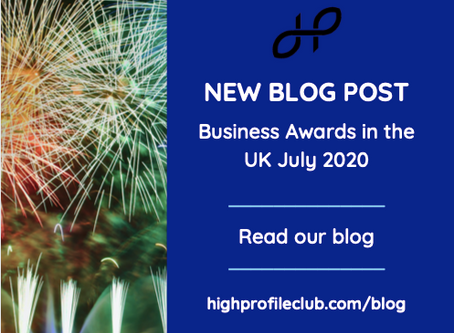 Business Awards in the UK July 2020