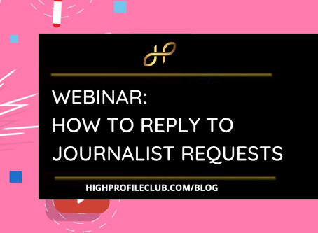 How To Reply To Journalist Requests