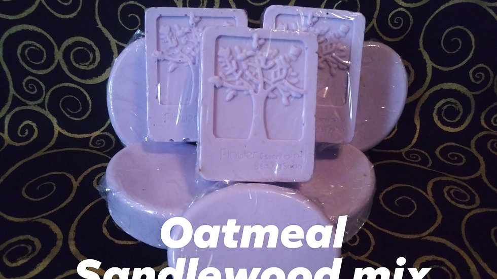 Oatmeal Sandlewood Mix Soap with Prize inside