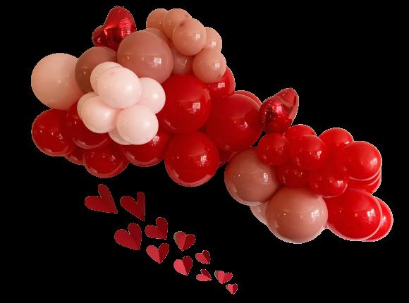 Valentine's Day Heart Balloon Cloud