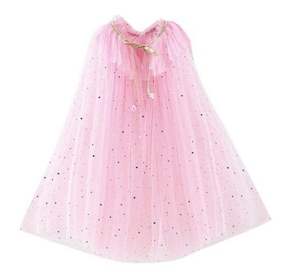 Pink Tulle Cape
