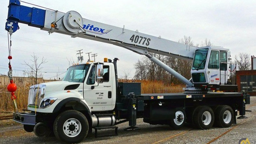 2012 International 7600 Boom Truck  with Manitex 30 Ton Cran (Norfolk Souther
