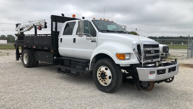 2015 Ford F750 High Rail Crew Cab Service Truck for sale