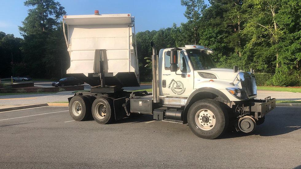 2008 International 7600 High Rail Rotary Dump Truck  222,015 Miles  Cat Powered