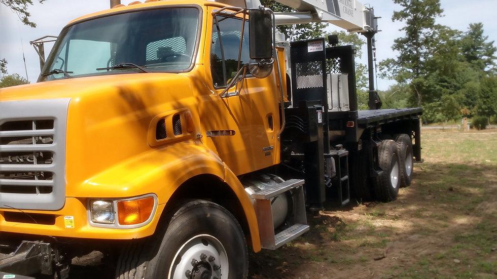 (1) 2006 Sterling Hi Rail L7500 Stake Boom Truck  ( National 600E ) 20 Ton Ratin