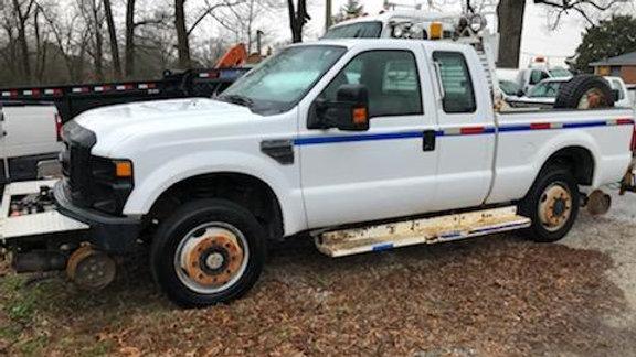 2008 Ford F350 High Rail Ext Cab Pick Up Truck Super Duty