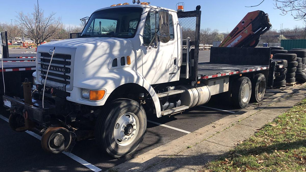 2006 Sterling LT7501 Hirail Knuckle Boom Truck with Palfinger PK15002B