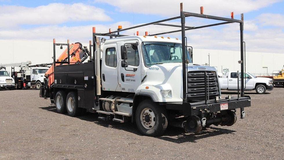 2013 Freightliner 1085D Hi Rail  Crane / Gang Truck