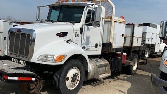 2012 Peterbilt 330 Hi Rail Welder Truck with Pal-finger Crane
