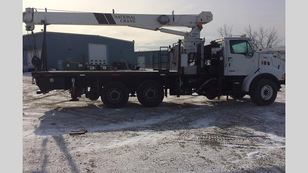 04 Sterling LT9500 Hi Rail Boom / Flat Truck with National 560D