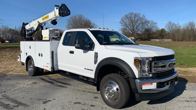 2019 Ford F550 ExtCab Service Truck   Only 39 Miles  Brand New