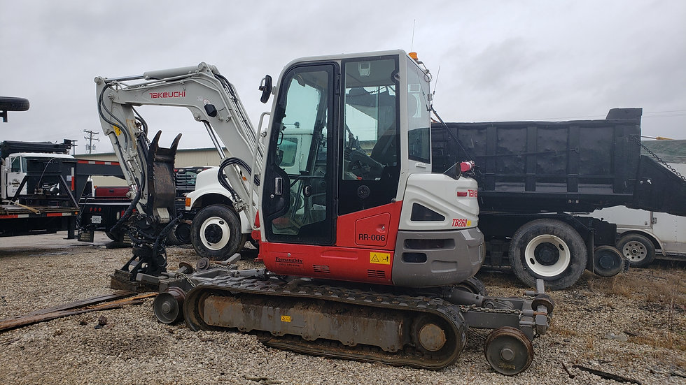 2015 Takeuchi TB260 HI Rail Excavator