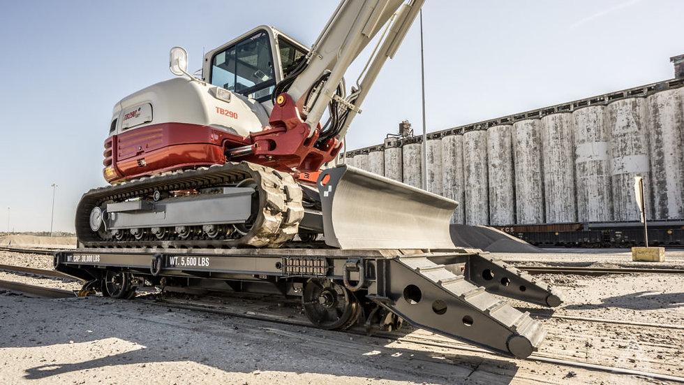 Dymax MP 8 Rail Rider for Excavator.