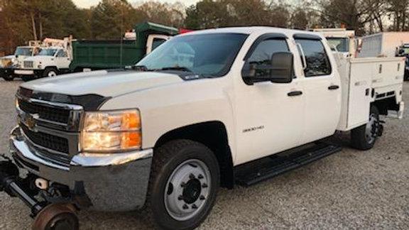 2010 Chevrolet 3500 Crew Cab Tool Bed Truck