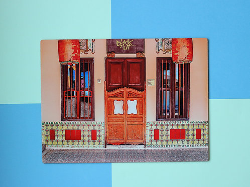Peach Emerald Hill Door Placemat (Single Placemat)