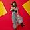 Thumbnail: Ash Black Peranakan Tiles Pleated Skirt