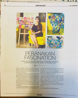 """The Business Times """"Peranakan Fascination"""""""