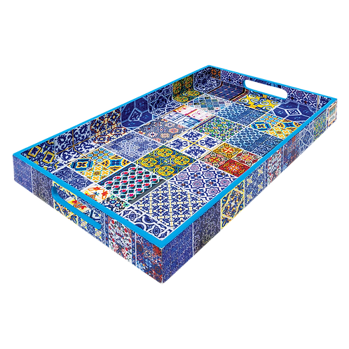 Azure Blue Peranakan Tiles Tray