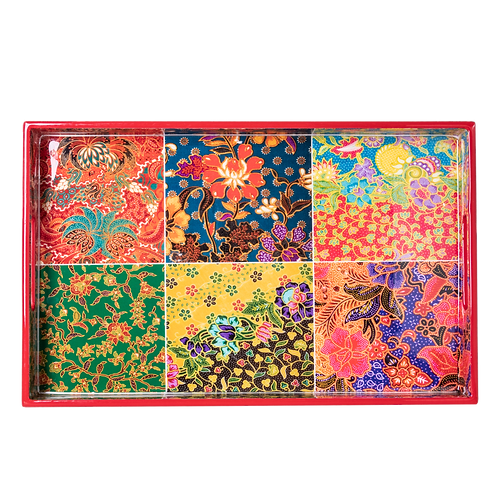 Batik Shiok Collection Rectangle Serving Tray