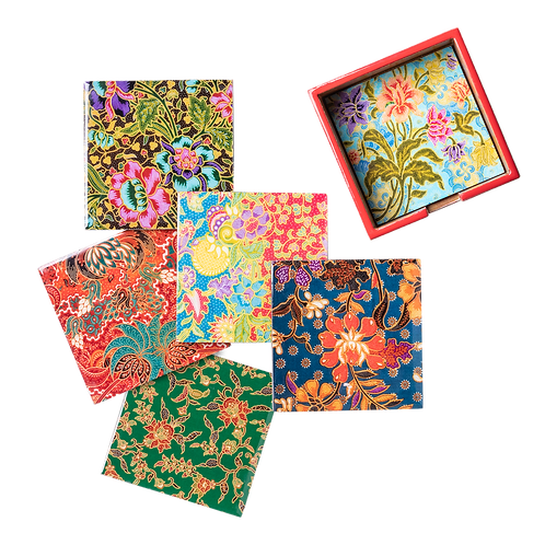 Batik Shiok Collection (Set of 6 Coasters)